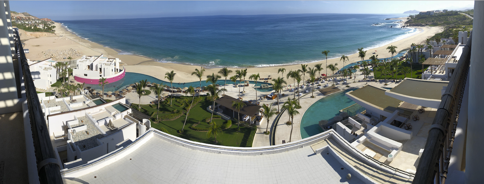 Panoramic photo from our fifth floor suite